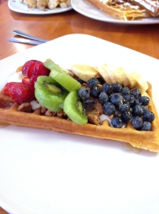The Most Beautifully Presented Waffle I Have Ever Seen