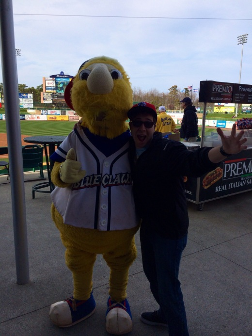 Me and the Blueclaws' Mascot, Buster