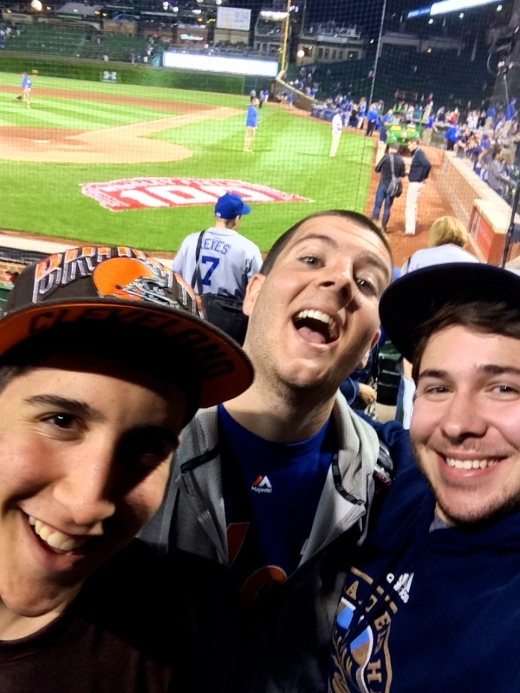 Harry, Sean and Myself Celebrating After A Cubs Win